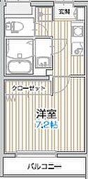アルビレオ 3階1Kの間取り