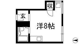 大阪府箕面市新稲7丁目の賃貸マンションの間取り