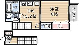 リマーレ山科[212号室号室]の間取り