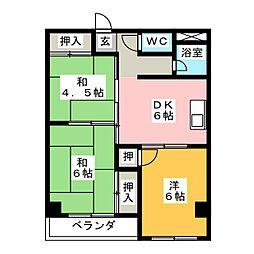 氷室AKマンション[3階]の間取り