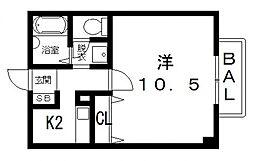 クロー・エイテルパーチ[2階]の間取り