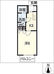 エトワール三好ヶ丘 B棟[1階]の間取り