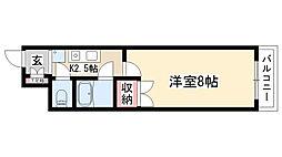 愛知県名古屋市天白区相川2丁目の賃貸マンションの間取り