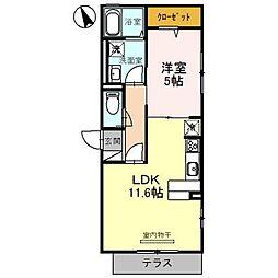 大阪府堺市堺区向陵中町3丁の賃貸アパートの間取り