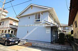 岡山県岡山市北区津島西坂1丁目の賃貸アパートの外観