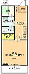 富士之越テラス[103号室]の間取り