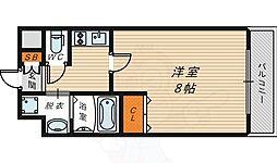 W.O.B京橋 5階1Kの間取り