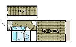神奈川県相模原市中央区淵野辺5丁目の賃貸アパートの間取り