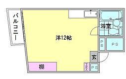 チサンマンション第一博多[9階]の間取り