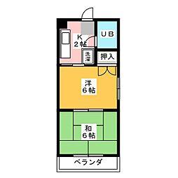 スカイハイツ小田[2階]の間取り