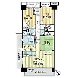 亀戸レジデンス[9階]の間取り
