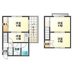 [テラスハウス] 兵庫県神戸市垂水区西舞子3丁目 の賃貸【/】の間取り