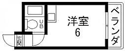 小若江ハイツ[302号室号室]の間取り