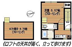アミューズ北新宿[202号室号室]の間取り