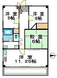 ドミール武蔵野[1階]の間取り