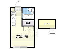 ニシヤマハイツ[1階]の間取り
