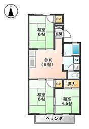 愛知県名古屋市西区砂原町の賃貸アパートの間取り