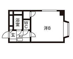 北海道札幌市豊平区平岸一条7丁目の賃貸マンションの間取り