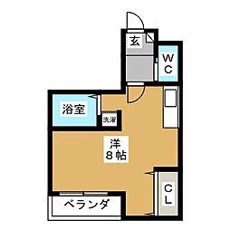 ライブコート 吉田[2階]の間取り