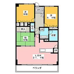 サーパス本山鹿子町[2階]の間取り