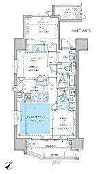 ディームス渋谷本町 5階3LDKの間取り