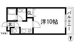 メイプル南花屋敷[2階]の間取り
