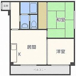 コスモハイツ[3階]の間取り