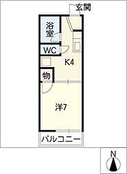 ハイツ弥生ケ岡[2階]の間取り