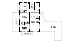 兵庫県西宮市東山台1丁目の賃貸マンションの間取り