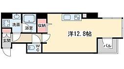 エトワール北新地 9階ワンルームの間取り