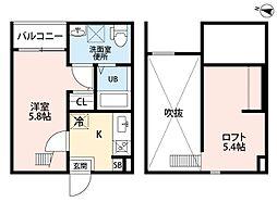 (仮称)小幡南2丁目アパートII[2階]の間取り