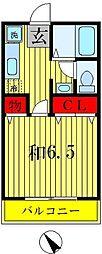 クレールハイム[1階]の間取り