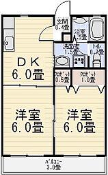 メゾンクレールA[103号室]の間取り