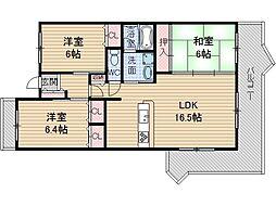 東奈良リッツハウス[4階]の間取り