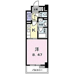 高松琴平電気鉄道琴平線 三条駅 徒歩11分の賃貸マンション 1階1Kの間取り