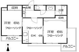埼玉県さいたま市南区別所4丁目の賃貸マンションの間取り