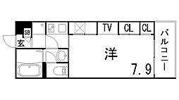 兵庫県神戸市灘区赤坂通7丁目の賃貸アパートの間取り