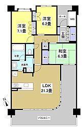レクセル浜松弁天島(402)[402号室]の間取り