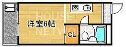 銀閣COZYハイツ[313号室号室]の間取り