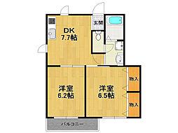 マノワール3[1階]の間取り