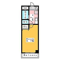 A・City日の出[4階]の間取り