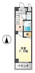 愛知県名古屋市南区扇田町の賃貸マンションの間取り