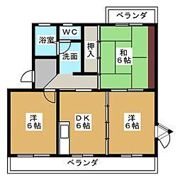 アスティ黒田[2階]の間取り