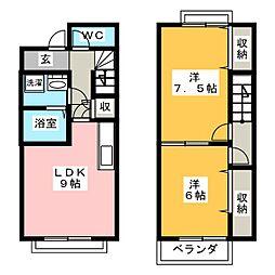 [テラスハウス] 愛知県小牧市小木1丁目 の賃貸【愛知県 / 小牧市】の間取り