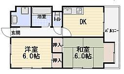 ブランドールMIII[3階]の間取り