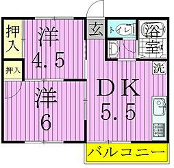 ペリーハイム新松戸[3階]の間取り