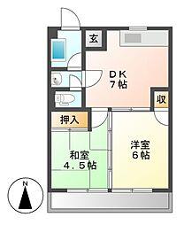 ファミール千代田[2階]の間取り