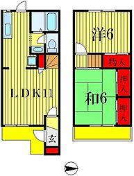 [テラスハウス] 千葉県松戸市五香4丁目 の賃貸【千葉県 / 松戸市】の間取り