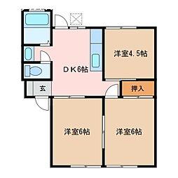 コーポトピア21[1階]の間取り