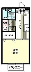 セジュールMAI[206号室]の間取り